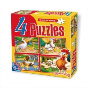 4 Puzzle-uri Maxi Animale (12-24-35-48 pcs)