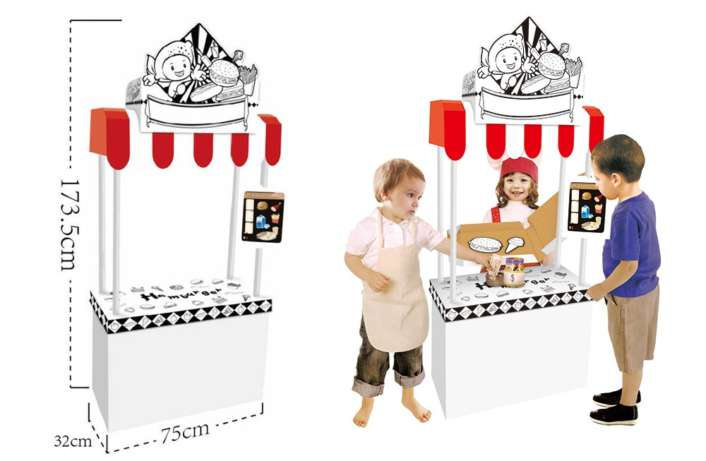 Jucarie ingenioasa Little Vendor Stand