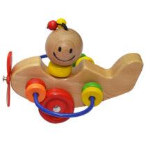Jucarie bebelusi Elicopter cu labirint de lemn