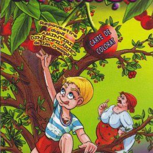 Carte de colorat cu poveste  La Cirese