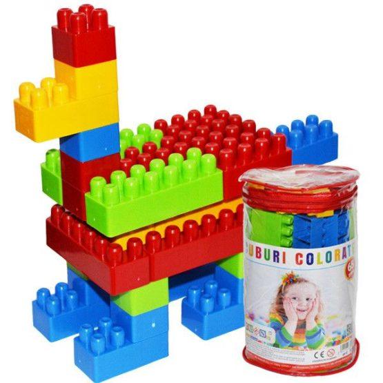 Cuburi colorate 65 piese