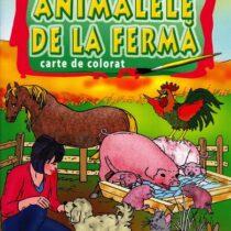 Carte de colorat Sa invatam animalele de la ferma