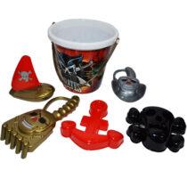 Galeata de nisip pirati cu accesorii