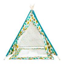 Cort Tepee, Multicolor cu saltea de joaca
